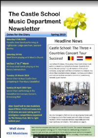 Music Department Newsletter Spring 2019