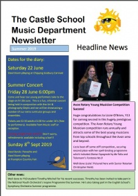 Music Newsletter Summer 2019