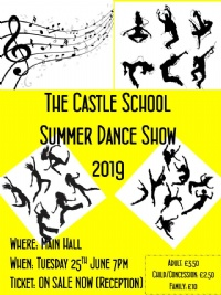 SUMMER DANCE SHOW TUESDAY 25TH JUNE 7PM